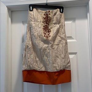 Nicole Miller strapless mini dress. Size 4